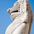 Antique guardian lion sculpture — Stock Photo