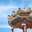 Stock Photo: Chinese temple with blue sky