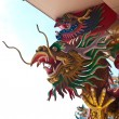 Dragon Status at Na Zha (Gods Of Honour) temple - Stock Photo