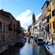 Stock Photo: Quiet One of Canals in Venice Italy