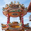 Chinese temple with blue sky — Stock Photo