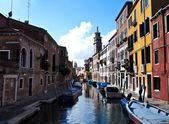 A quiet One of Canals in Venice Italy — Stock Photo