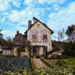 Farm house built by Marie Antoinette on Versailles — Stock Photo