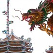 Dragon Status at Na Zha temple - Stock Photo
