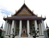 El ubosot de wat suthat de bangkok, tailandia — Foto de Stock