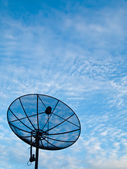 Satellite dish on a blue sky background (vertical) — Foto de Stock