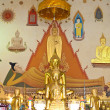 Ubosot of Wat Inthrawihan , Bangkok Thailand — Stock Photo