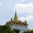 Golden pagoda on the top of Wat Saket , Bangkok Thailand — Stock Photo