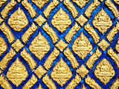 Details of wall of temple in Thailand (horizontal) — Fotografia Stock