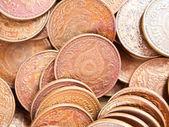 Arrière-plan de nombreuses pièces de monnaie — Photo