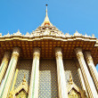 Wat Phra Buddhabat with blue sky background - Stock Photo