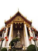 Wat Suthat Thepphawararam temples in Bangkok Thailand — Stock Photo