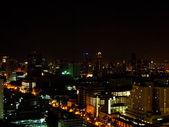 Night of Cityscape of Bangkok city , Thailand — Stock Photo