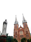 Notre dame met virgin mary in ho chi minh city, vietnam — Stockfoto