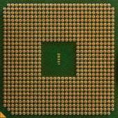 Closeup of computer processor — Stock Photo