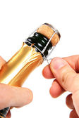 Champagne opening — Stock Photo