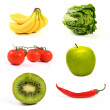 Variety of fruits and vegetables — Foto de Stock