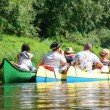 Three canoe boats on river — Stock Photo #6208470