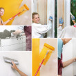 Collage of home improvement pictures - Foto Stock