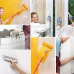 collage van het huisverbetering foto 's — Stockfoto