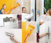 Collage av hem förbättring bilder — Stockfoto