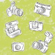 Stock Vector: Set of Photo cameras