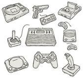 Computerspelletjes — Stockvector