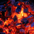 Red coals - Stock Photo
