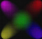 Raster durch farbe projektoren beleuchtet — Stockfoto