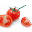 Tomato, half and quarter isolated — Stock Photo #5975496