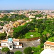 Panorama of Rome, Italy - Stock Photo