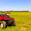 Stock Photo: Red ATV