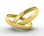 Wedding gold rings — Stock Photo