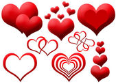 Clipart of red hearts — Stock Photo