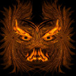 Abstract fiery demon — Stock Photo