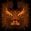 Stock Photo: Abstract fiery demon
