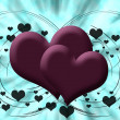 Stock Photo: Two pink hearts