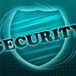 Stock Photo: Inscription security and shield