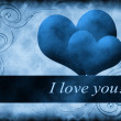 Foto Stock: Love blue card