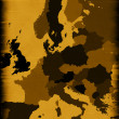 Brown map of modern Europe - Stock Photo