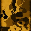 Royalty-Free Stock Photo: Brown map of modern Europe
