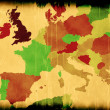 Map of modern Europe - Stock Photo