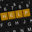 Keyboard with help key — Stock Photo