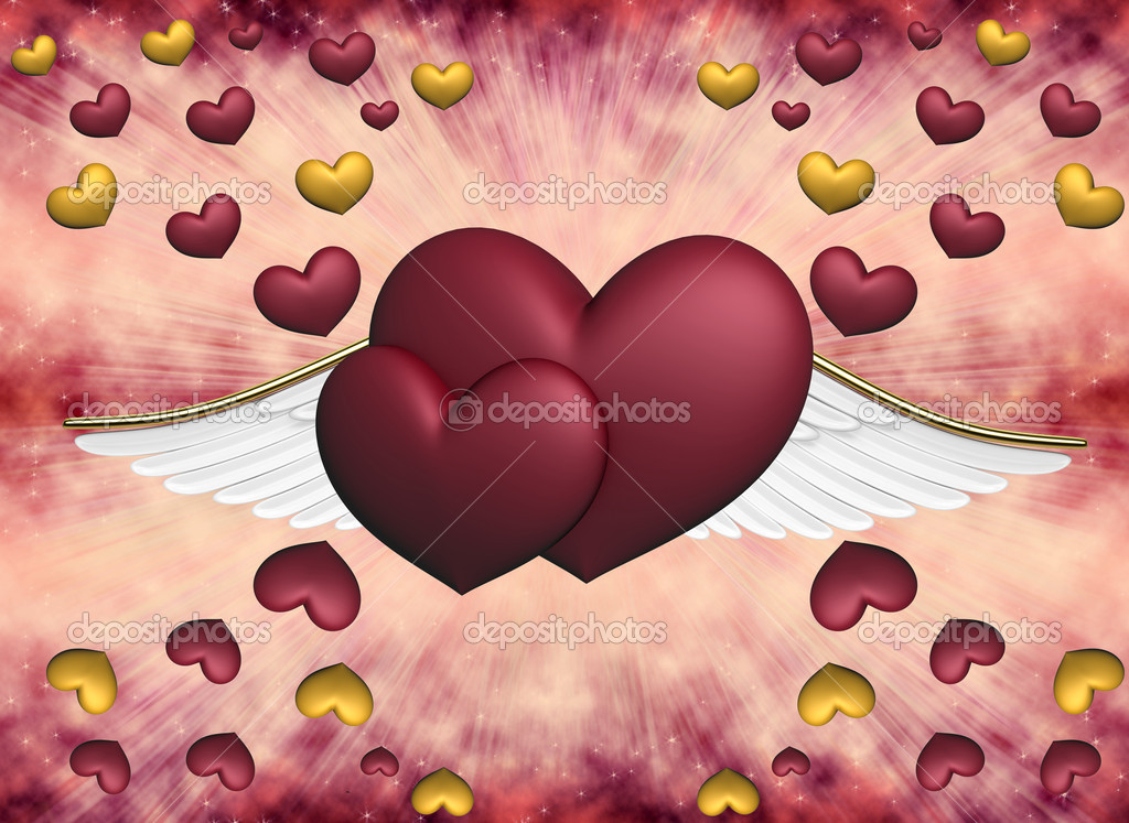 Hearts on pink a background  Foto Stock #5961123