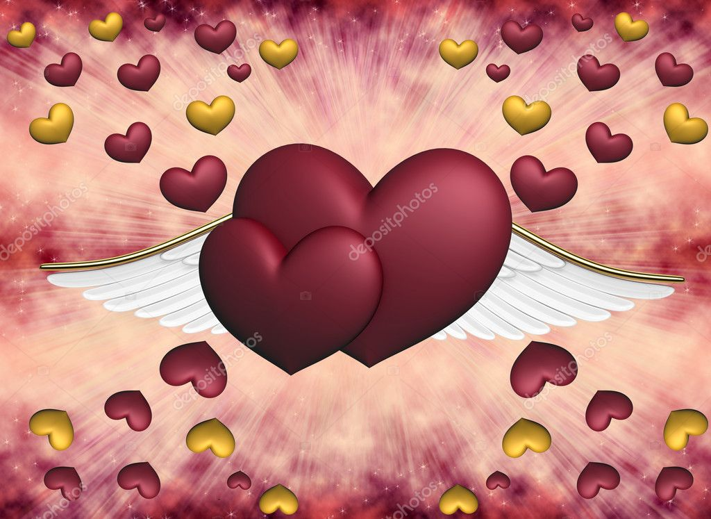 Hearts on pink a background — Stockfoto #5961123