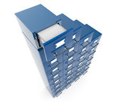 Filing cabinet isolated over white background — Stockfoto