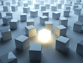 Luminous cube. Individuality — Stock Photo