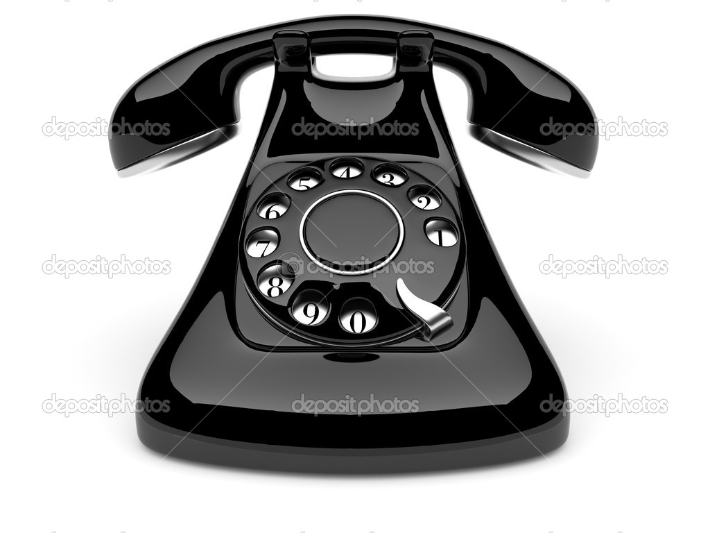 Phone old. 3d illustration on white background — Stock Photo #5970070