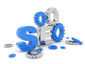 SEO optimization. 3D illustration. Isolated — 图库照片