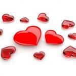Heart. 3D illustration on white background — Stock Photo
